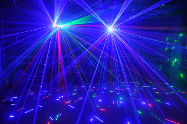 LASER SHOW LL-TWB350 LASER SHOW RGB MULTI EFFECT 6 SAÍDAS
