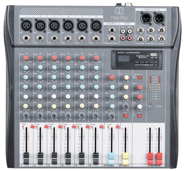 AMX SERIES 6CH PROFISSIONAL AUDIO MIXER