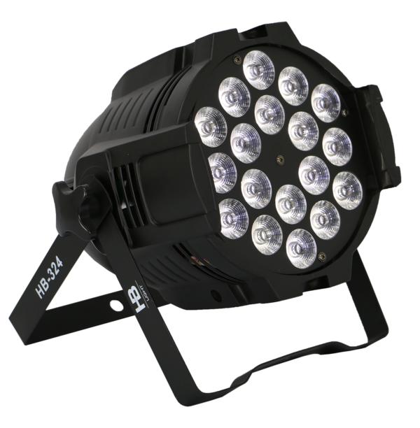 HB-324 LED PAR FULL 18X18W RGBWA+UV 6IN1