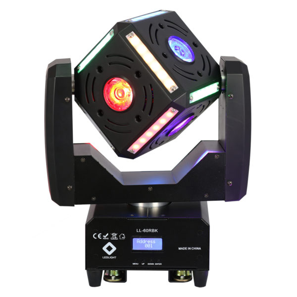 LL-60RBK MOVING CUBE BEAM LED EFFECT 6X12W RGBW OSRAM LED+12X6 STRIP LED SMD5050 RGB
