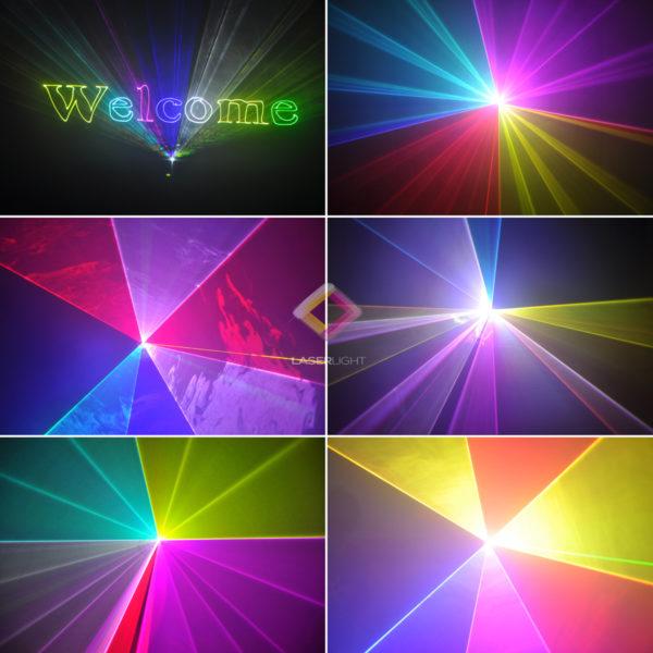 LASER SHOW LL-APP1W LASER SHOW ILDA RGB 1w GRÁFICO ANIMADO APP + TECLADO