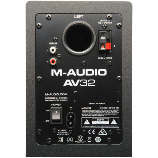 MONITOR DE ÁUDIO M-AUDIO AV32.1 POWERED SPEAKER SYSTEM + SUBWOOFER